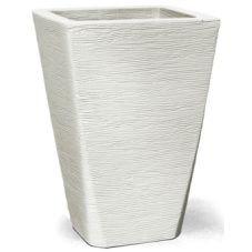 vaso grafiato trapezio branco