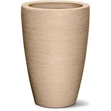 vaso grafiato conico areia
