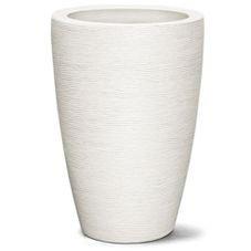vaso grafiato conico branco