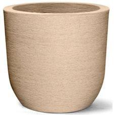 vaso grafiato redondo areia