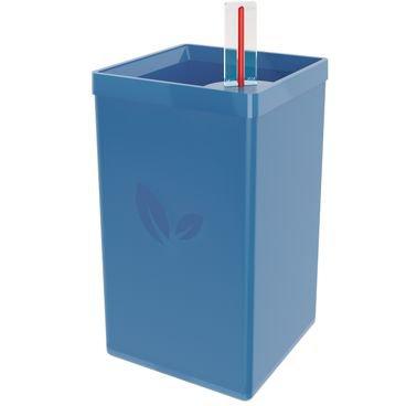 vaso autoirrigavel cult azul vintage