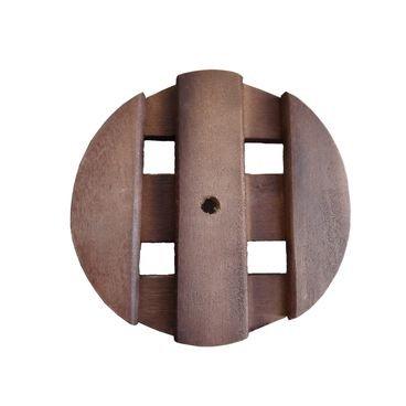 suporte redondo madeira rodinhas