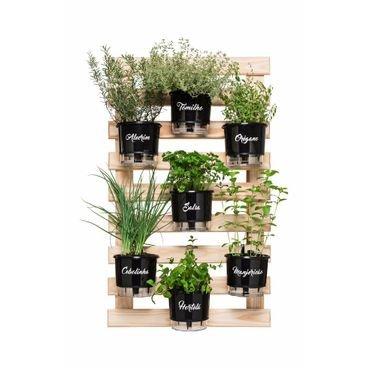horta vertical 7 vasos completos raiz preto