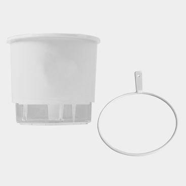 vaso raiz autoirrigavel medio branco suporte parede