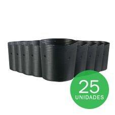 vaso embalagem mudas nutriplan 1 litro preto 25 unidades