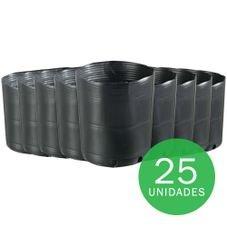 vaso embalagem mudas nutriplan 2 8 litro preto 25 unidades