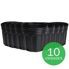 vaso embalagem mudas nutriplan 3 6 litro preto 10 unidades
