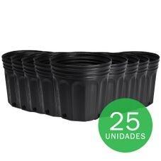 vaso embalagem mudas nutriplan 3 6 litro preto 25 unidades
