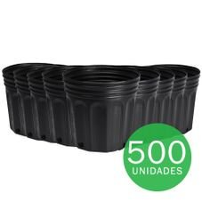 vaso embalagem mudas nutriplan 3 6 litro preto 500 unidades