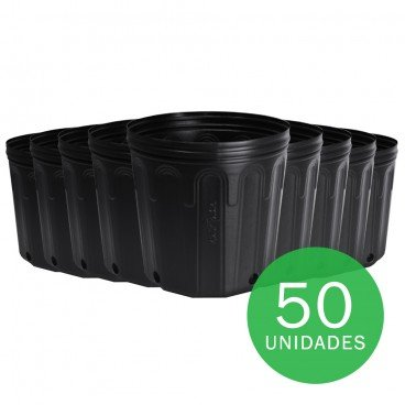 vaso embalagem mudas nutriplan 5 litro preto 50 unidades