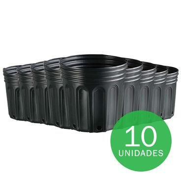 vaso embalagem mudas nutriplan 8 litro preto 10 unidades