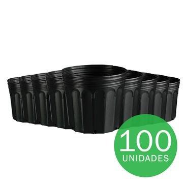 vaso embalagem mudas nutriplan 11 litro preto 100 unidades