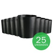 vaso embalagem mudas nutriplan 14 3 litros preto 25 unidades