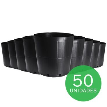 vaso embalagem mudas nutriplan 18 litros preto 50 unidades