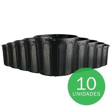vaso embalagem mudas nutriplan 25 litros preto com alca 10 unidades