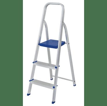 escada 3 degraus aluminio mor
