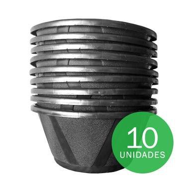 vaso cuia nobre 03 com prato nutriplan preto 10 unidades
