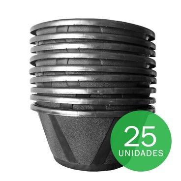 vaso cuia nobre 03 com prato nutriplan preto 25 unidades