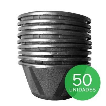 vaso cuia nobre 03 com prato nutriplan preto 50 unidades
