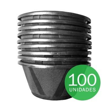 vaso cuia nobre 03 com prato nutriplan preto 100 unidades