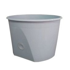 vaso base grande flocado