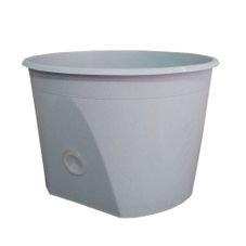 vaso base grande flocado
