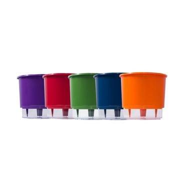 202670 kit 5 vasos autoirrigaveis n03 coloridos raiz
