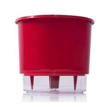 vaso autoirrigavel raiz n04 grande vermelho