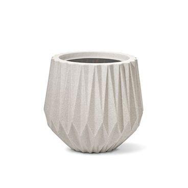vaso origami redondo 22 cimento