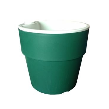 vaso autoirrigavel plantar verde escuro n03