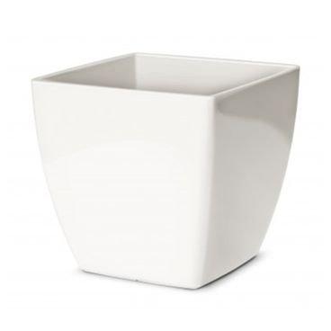 vaso cachepo elegance quadrado nutriplan branco