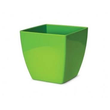 vaso cachepo elegance quadrado nutriplan verde limao