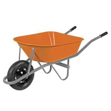 carrinho de mao braco metalico cacamba plastica roda borracha
