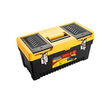 caixa plastica ferramentas trava metalica
