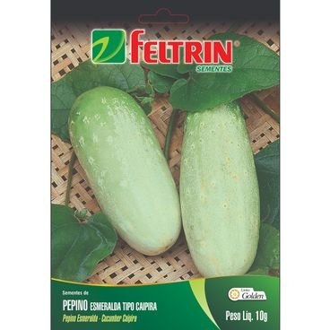 semente pepino esmeralda tipo caipira 10g feltrin