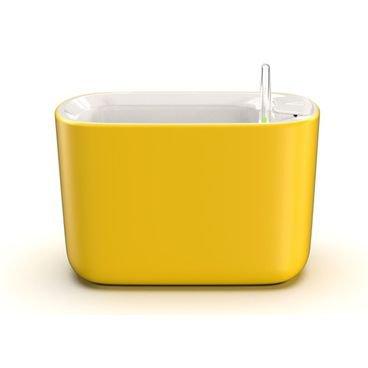 vaso autoirrigavel botanika pequeno amarelo novo