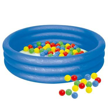 banheira azul com bolinhas 130l mor