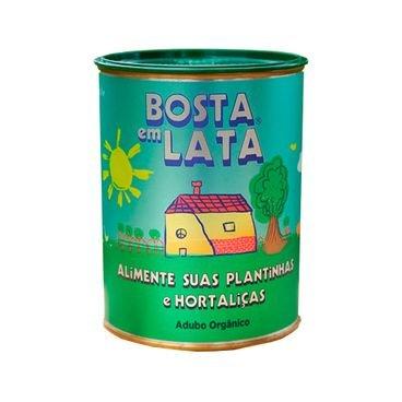 adubo organico bosta em lata alimente suas plantinhas e hortalicas 500g