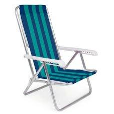 cadeira reclinavel aluminio 8 posicoes mor verde azul