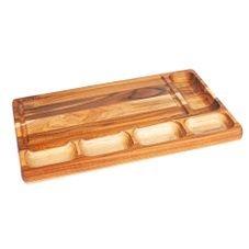 petisqueira retangular teca mesa corte stolf