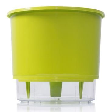 vaso autoirrigavel verde claro raiz