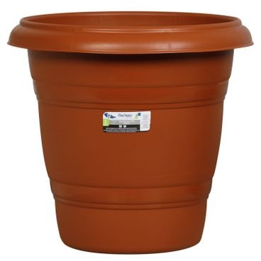 vaso redondo n28 rischioto marrom