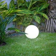 balizador esfera jardim usare branco