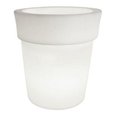 cachepot iluminado vaso 50 branco usare