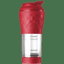 cafeteira portatil pressca vermelha