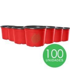 kit pote 11 holambra vermelho preto 100 unidades
