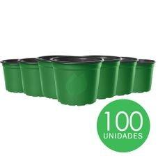 kit pote 15 holambra verde preto 100 unidades