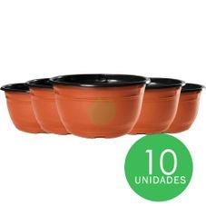 kit cuia nc22 preto ceramica 10 unidades
