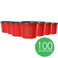 kit pote 6 holambra vermelho preto 1000 unidades