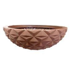 vaso concha lapidado marrom bambu